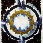 Inchiostro e Oro-Visto in sogno Inchiostro su carta e oro 70 x 50 cm